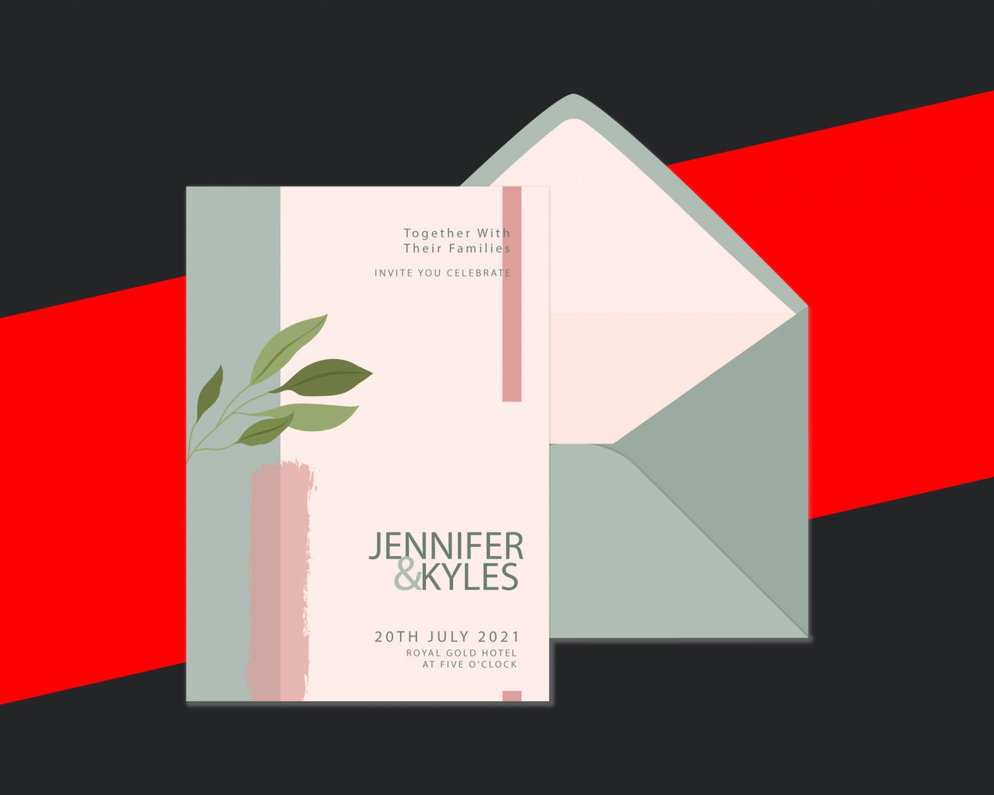 SAMPLE WEDDING CARD DESIGN - 2