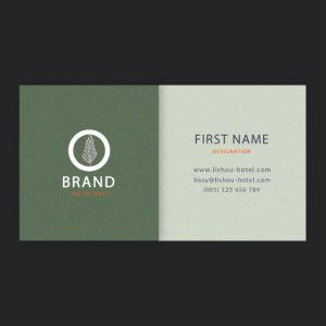 HORIZONTAL BUSINESS CARD/VISITING CARD DESIGN