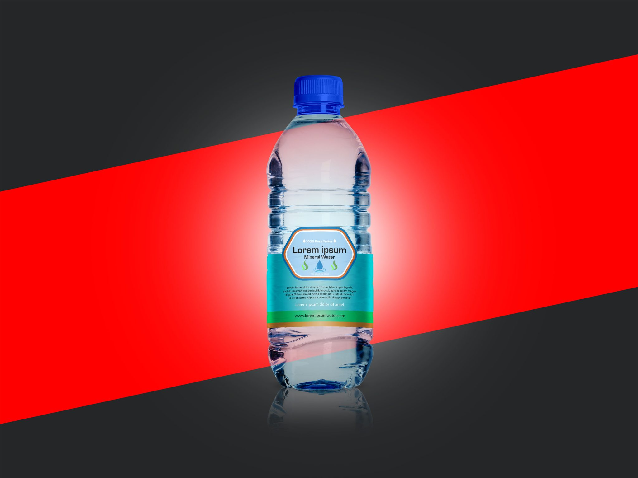 SAMPLE WATER BOTTLE LABEL DESIGN