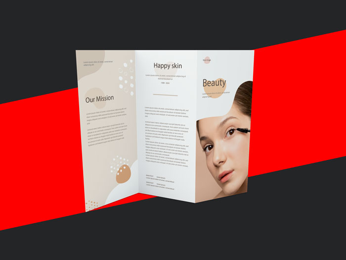 SAMPLE BROCHURE DESIGN FOR A COSMETIC COMPANY