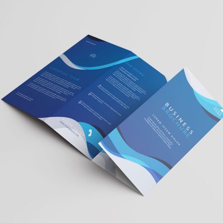 SAMPLE BROCHURE DESIGN - 4 LEAFLET TYPE