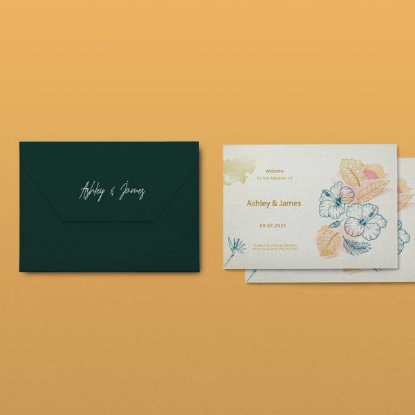 SAMPLE WEDDING INVITATION CARD - 1