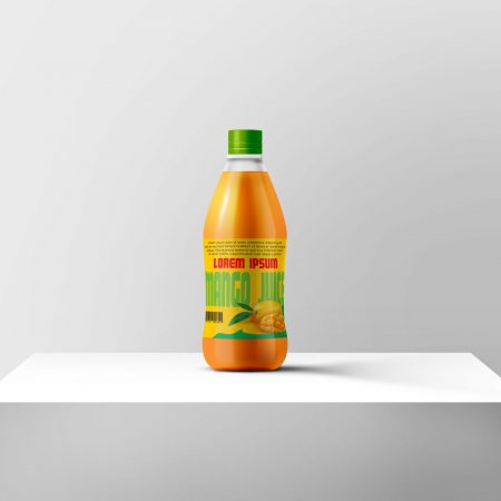 LABEL DESIGN FOR A JUICE BOTTLE.