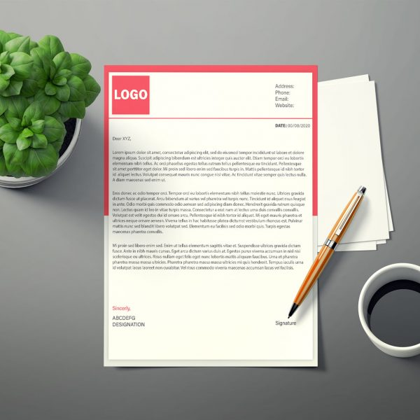 SAMPLE LETTERHEAD DESIGN FOR A BRAND.