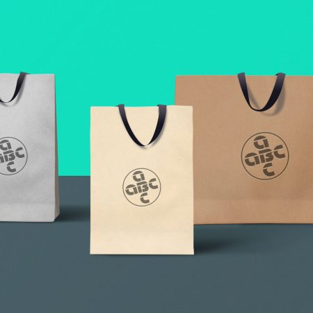 SAMPLE PAPER BAGS PACKAGE DESIGN.